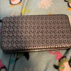 Handbags - Fun gray woven pattern clutch wallet